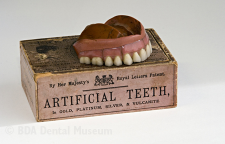 Vulcanite dentures, mid 19th to early 20th centuries