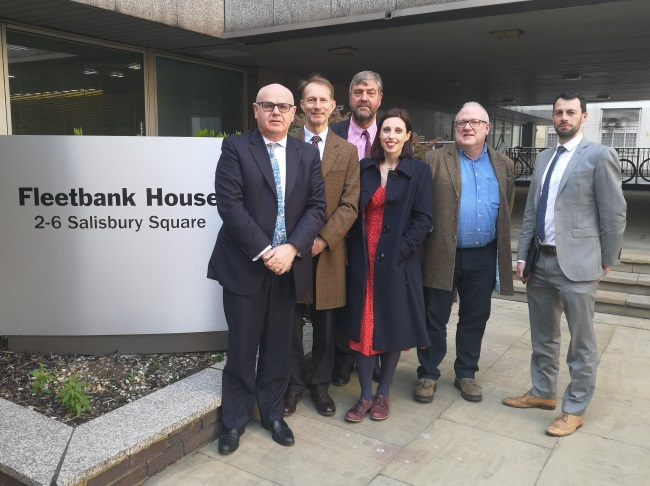 BDA delegation to DDRB standing outside Fleetbank House offices