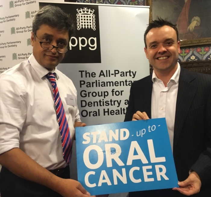 Dentist Jayesh Patel gave Stephen McPartland MP a mouth check and discussed the issues dentists face