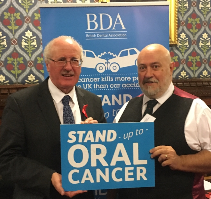 DUP Health Spokesperson Jim Shannon MP spoke to BDA's Chair Mick Armstrong