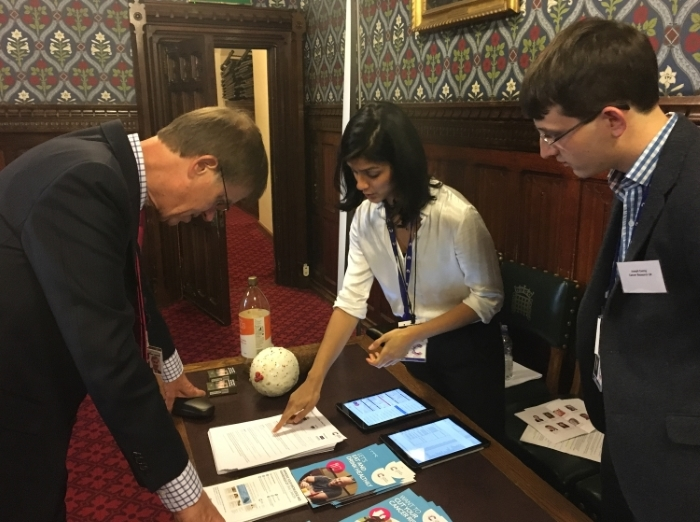 Stephen Timms MP learns about oral cancer incidence in his constituency
