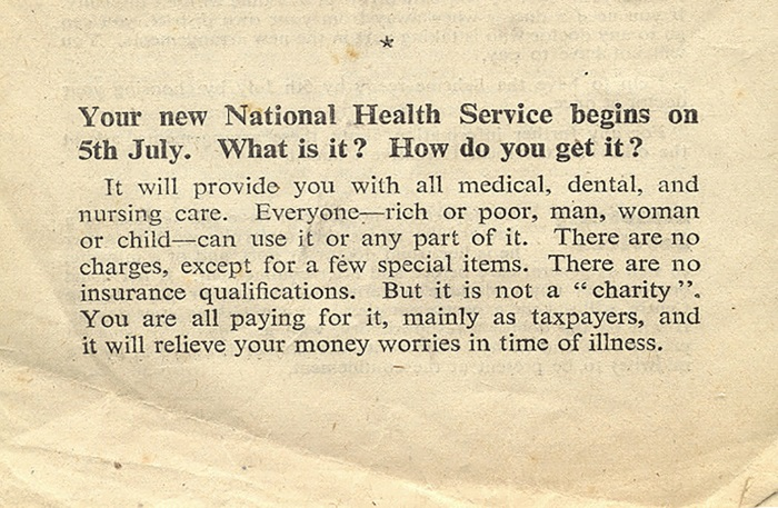 NHS launch leaflet