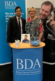 Roz and Len at UK Dental Congress 2020